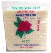 """Red Rose"" Vietnamese Rice Paper (Square 22 cm) 12 oz"
