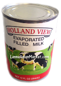 Hollanded View Evaporated Filled Milk